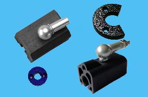 吴中磁致伸缩位移传感器 附件磁块/插头